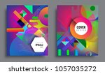 sets of abstract geometric... | Shutterstock .eps vector #1057035272