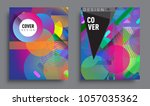 sets of abstract geometric... | Shutterstock .eps vector #1057035362