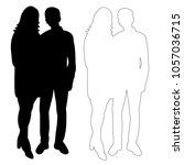 vector  isolated silhouette of... | Shutterstock .eps vector #1057036715