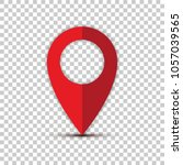 vector location icon. pin... | Shutterstock .eps vector #1057039565