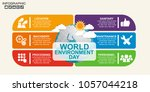 digital infographic with world... | Shutterstock .eps vector #1057044218