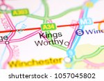 Small photo of Kings Worthy. United Kingdom on a map