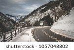 road mountain view | Shutterstock . vector #1057048802