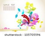 abstract vector flower... | Shutterstock .eps vector #105705596