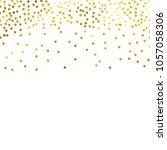 gold glitter background polka ... | Shutterstock .eps vector #1057058306