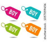 boy price tags. flat eps10... | Shutterstock .eps vector #1057059656
