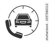 taxi ordering glyph icon.... | Shutterstock . vector #1057060112