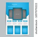 flyer template. design for a... | Shutterstock .eps vector #1057070222