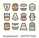 set of emblems and patches in... | Shutterstock .eps vector #1057077236