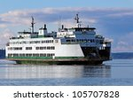 Washington State Ferry In The...