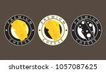cheese logo design. cheese... | Shutterstock .eps vector #1057087625