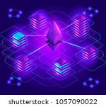 crypto currency isometry ... | Shutterstock .eps vector #1057090022