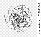 abstract scribble  chaos doodle ... | Shutterstock .eps vector #1057093862