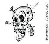 skull king vector illustration | Shutterstock .eps vector #1057094108