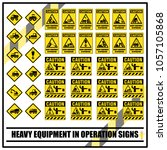 set of safety caution signs and ...   Shutterstock .eps vector #1057105868