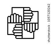 hand business icon vector | Shutterstock .eps vector #1057120262