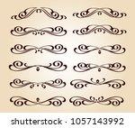calligraphic elegant elements... | Shutterstock .eps vector #1057143992