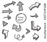 arrow vector collection | Shutterstock .eps vector #1057149188