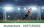 soccer game moment  on... | Shutterstock . vector #1057150202