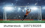 soccer game moment  on... | Shutterstock . vector #1057150205