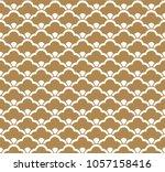 japanese pattern vector. gold... | Shutterstock .eps vector #1057158416