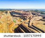 aerial view of huge  modern... | Shutterstock . vector #1057170995