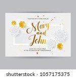 wedding invitation card... | Shutterstock .eps vector #1057175375