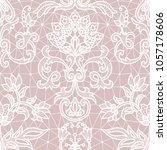 seamless pink lace background... | Shutterstock . vector #1057178606