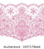horizontally seamless white... | Shutterstock . vector #1057178666