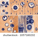 collection of designer oil... | Shutterstock . vector #1057183232