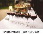 glasses of vine. beautiful...   Shutterstock . vector #1057190135