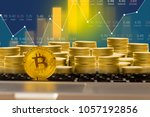 bitcoin digital currency stock... | Shutterstock . vector #1057192856