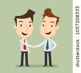 business partners  handshake... | Shutterstock .eps vector #1057208555