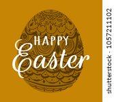 happy easter. easter. easter... | Shutterstock .eps vector #1057211102