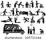 icon man hospital | Shutterstock .eps vector #105721166