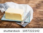 a piece of square natural milk... | Shutterstock . vector #1057222142