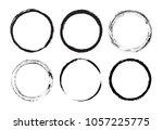 grunge circles set.vector... | Shutterstock .eps vector #1057225775