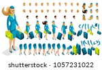 isometry constructor stewardess ... | Shutterstock .eps vector #1057231022