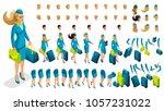 isometry constructor stewardess ... | Shutterstock .eps vector #1057231022