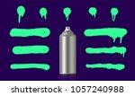 toxic green graffiti spray... | Shutterstock .eps vector #1057240988