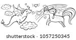 Hand Drawn Magic Cute Unicorn ...