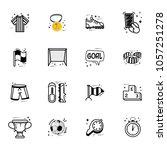 a set of soccer icons  in a... | Shutterstock .eps vector #1057251278