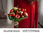 edible arrangements  edible... | Shutterstock . vector #1057259666