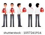 vector illustration of business ... | Shutterstock .eps vector #1057261916