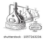 alembic still for making... | Shutterstock .eps vector #1057263236