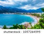 icmeler beach view in marmaris... | Shutterstock . vector #1057264595