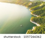 aerial trees and cliff rock...   Shutterstock . vector #1057266362