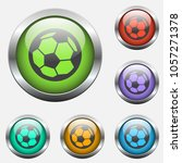 football vector icon on color...