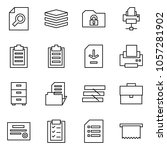 flat vector icon set   search... | Shutterstock .eps vector #1057281902