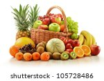 composition with assorted... | Shutterstock . vector #105728486